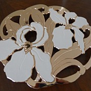 Iris Shaped Trivet or Hot Plate - 1970's Retro