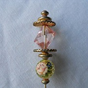 REDUCED Vintage Ornate Hatpin- Decorated with Flowers