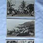 Exotic Postcard - Fiji - Mid 1940's- During WWII -Set of 3