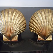 Pair of Shell Bookends - Vintage Design by P.M. Craftsman