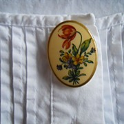 Vintage Floral Bouquet Button Cover