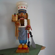 Vintage Wooden Chef Nutcracker  - Christmas Style