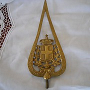 Brass Flagpole Topper or Finial- Religious Motif