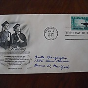 First Day Cover Honoring Higher Education - 1962 4 cent stamp