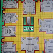 Vintage Clue Gameboard - Late '50's