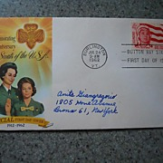 First Day Cover -Girl Scouts - 1962