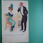 "Antique Bamforth ""Smart Set"" Postcard - No. 841"