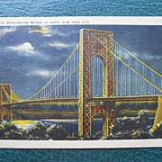 Postcard of the George Washington Bridge - New York City -1940