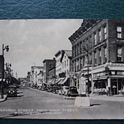 Vintage Real Postcard of Burlington, Vermont