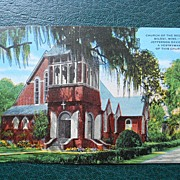 Postcard of Church of the Redeemer, Biloxi, Mississippi
