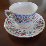 REDUCED Springtime Cup and Saucer by Staffordshire