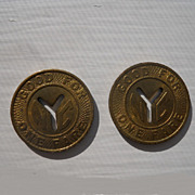 SOLD New York City Transit Tokens - Set of 2