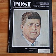 REDUCED Kennedy In Memoriam Issue - Saturday Evening Post - Dec. 14, 1963