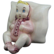 Ca 1940 Brayton Laguna Pottery Baby on Pillow Planter or Vase