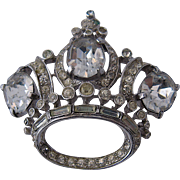 Coro Craft Crown Pin Sterling Adolph Katz Design