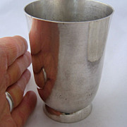 Early 1900s Hammered 800 Silver Beaker Wine Cup Murbach