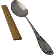 Huge 1913 Danish Silver Stuffing Spoon 15&quot;