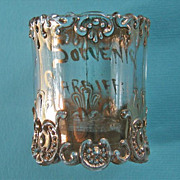 EAPG Pressed Glass Toothpick Gold Souvenir Cardiff NY