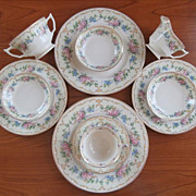 Avondale Syracuse China 10 Pcs Plates Cup Creamer Bowls Etc