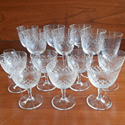 Stemware Diamond Crosshatching Wine Glasses Liquor 16