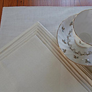 Belgian Linen Napkins Unused Vintage 1950s Ivory Color
