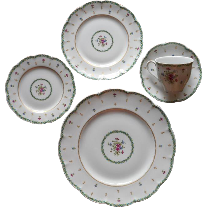 Limoges Place Settings 5 Piece Place Setting