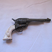 Vintage Miniature Diecast  3&quot; Steer Head Toy Gun
