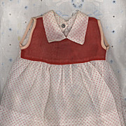 Vintage  Red and White Polka Dot  Doll Dress