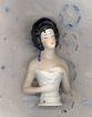 Vintage China Pincushion Doll with Molded Corset
