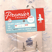 Vintage Packaged Doll Earrings by Premier