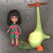 Ride 'N Run Action Skediddle Kiddle   Harriet Helididdle  Original