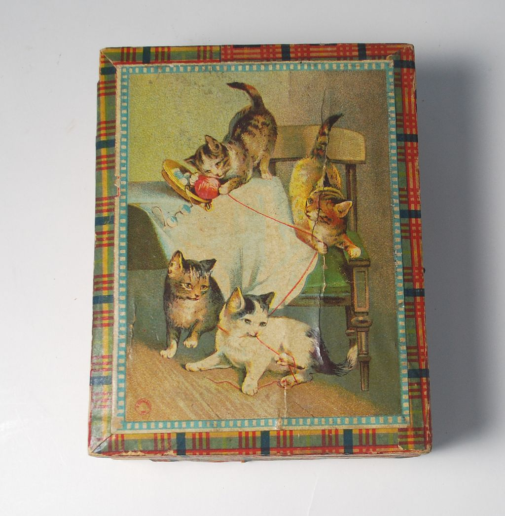 Antique German Litho Cube Puzzle