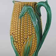 Antique Majolica Milk (Corn) Pitcher