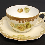 Antique Porcelain Old Ivory Cup & Saucer