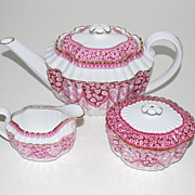 Spode China � Tea Pot, Creamer and Sugar - Vintage
