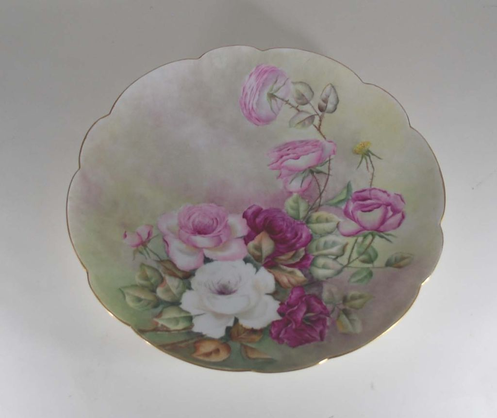 Antique Limoge Charger, Porcelain