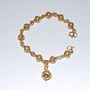 14K Gold Ladies Bracelet, 23.2 dwt., Vintage