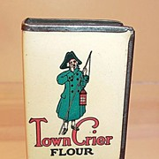 Town Crier Flour Celluloid and Tin Match Box Cover
