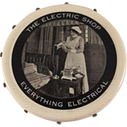 'The Electric Shop' Celluloid Pin Disc Premium