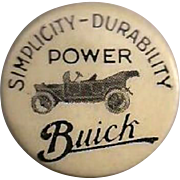 Early Buick Celluloid Pinback Button