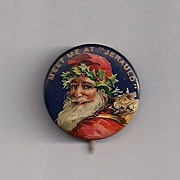 Early Santa Celluloid Pinback Button 'Jerauld'
