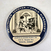 Wellington Conover - Cable Kingsbury Piano Pocket Mirror Advertising Premium