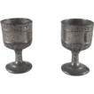 Pair of Metal Goblets 'Scroll' Pattern Dollhouse Accessories