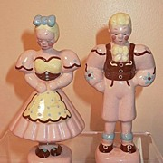 California Pottery Kay Finch Peasant Boy and Girl Figures