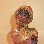 California Pottery Metlox Poppet Girl with Dog