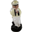 California Pottery Little Boy Holds a Rabbit Figure