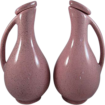 MCM Pottery Cruets Probably for Oil & Vinegar