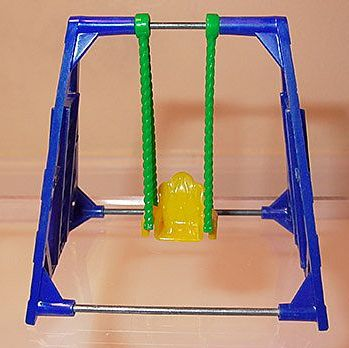 Acme Hard Plastic Dollhouse Furniture Single Swing
