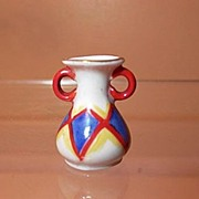 Dollhouse Miniature Made in Germany Hand Painted Ceramic Vase