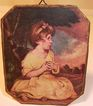 Dollhouse Miniature Picture of Young Girl c1930s